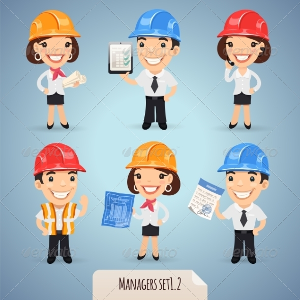 GraphicRiver Managers Cartoon Characters Set1.2 7489243
