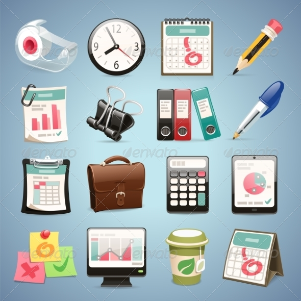 GraphicRiver Office Equipment Icons Set1.1 7489254