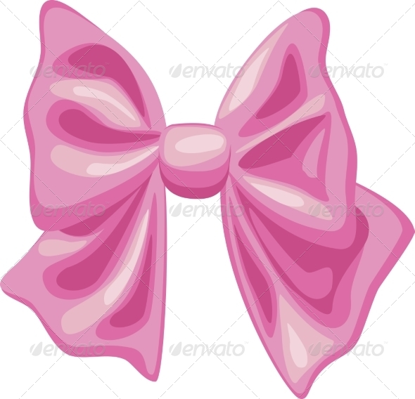 GraphicRiver Pink Bow on White Background 7489302