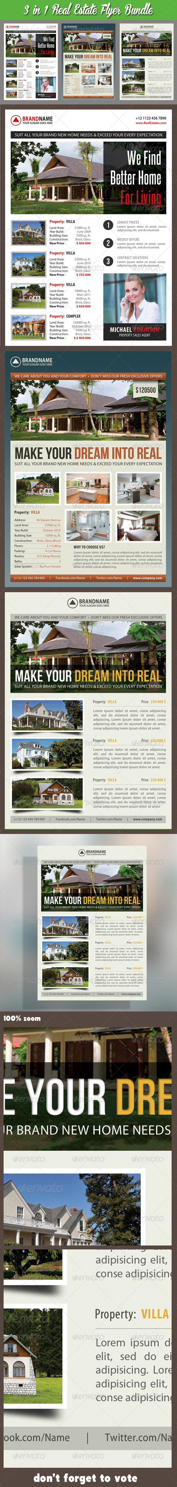 GraphicRiver 3 in 1 Real Estate Corporate Flyer Bundle 03 7489305