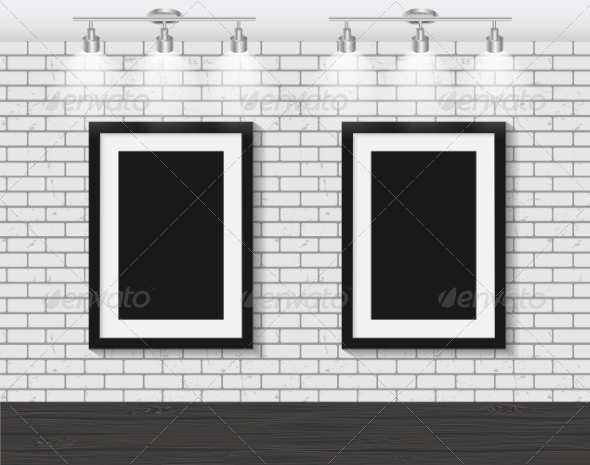 GraphicRiver Frame on Brick Wall for Your Text and Images 7489511