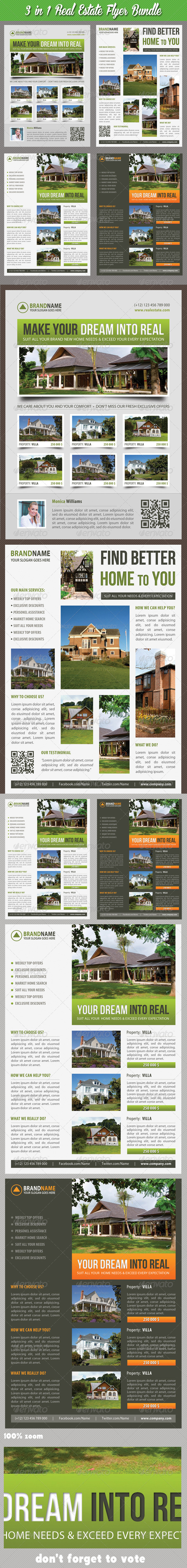 GraphicRiver 3 in 1 Real Estate Corporate Flyer Bundle 04 7489520
