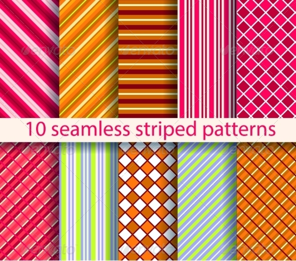 GraphicRiver 10 Seamless Patterns 7489613