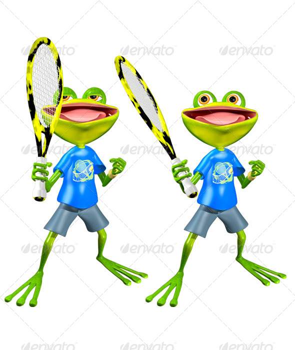 GraphicRiver Frog Tennis 7489637