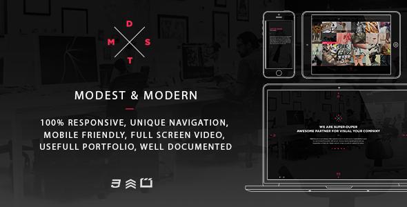 ThemeForest MDST Modest & Modern Multipurpose HTML5 Template 7489980