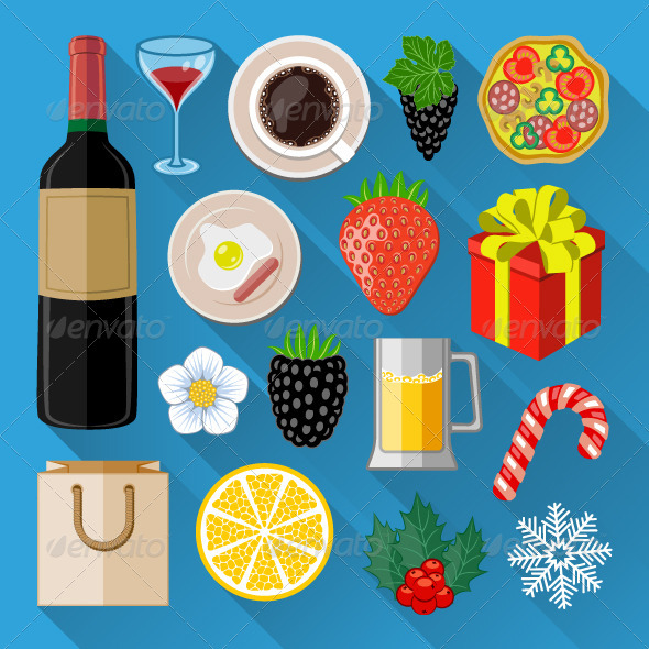 GraphicRiver Food and Drinks Icons 7489983