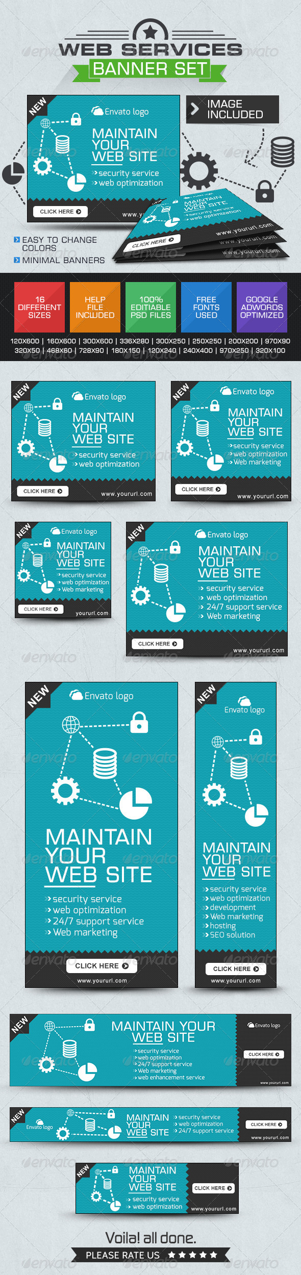 GraphicRiver Banners for Web Services 7489985
