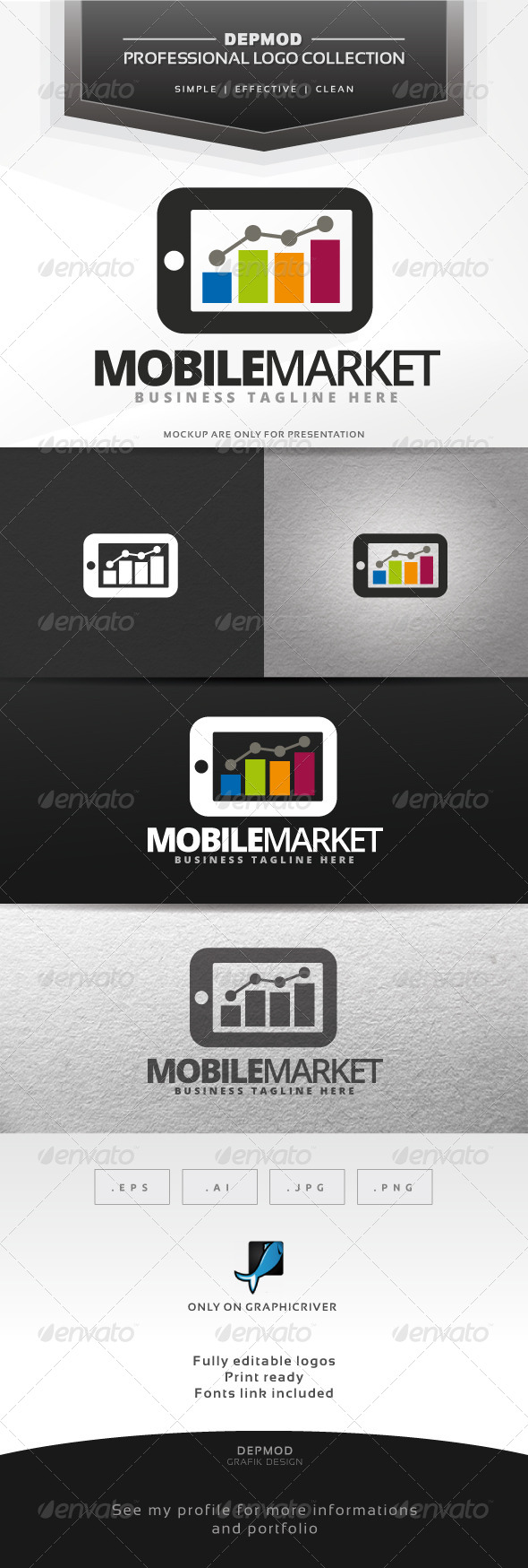 GraphicRiver Mobile Market V.02 Logo 7489987