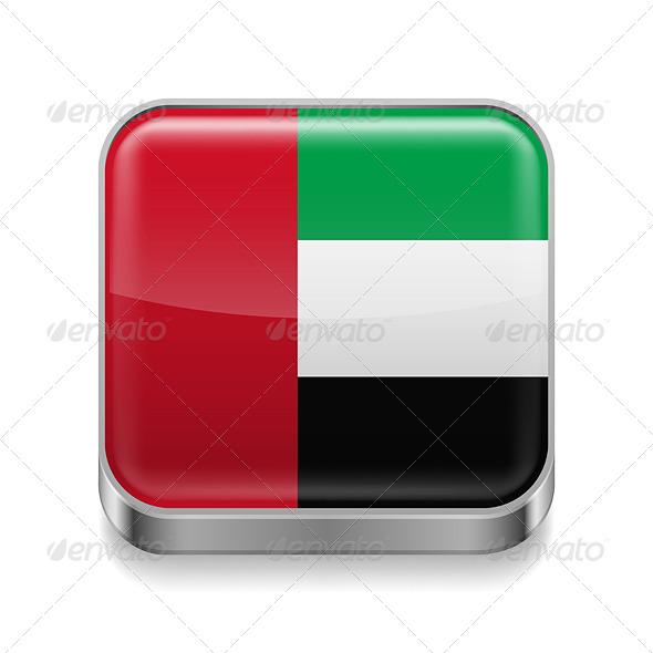 GraphicRiver Metal Icon of United Arab Emirates 7490029