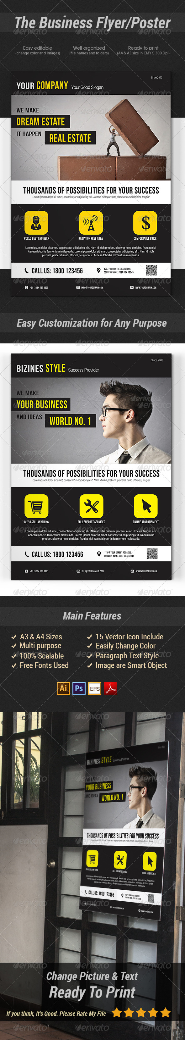 GraphicRiver The Business Flyer Poster 7470877