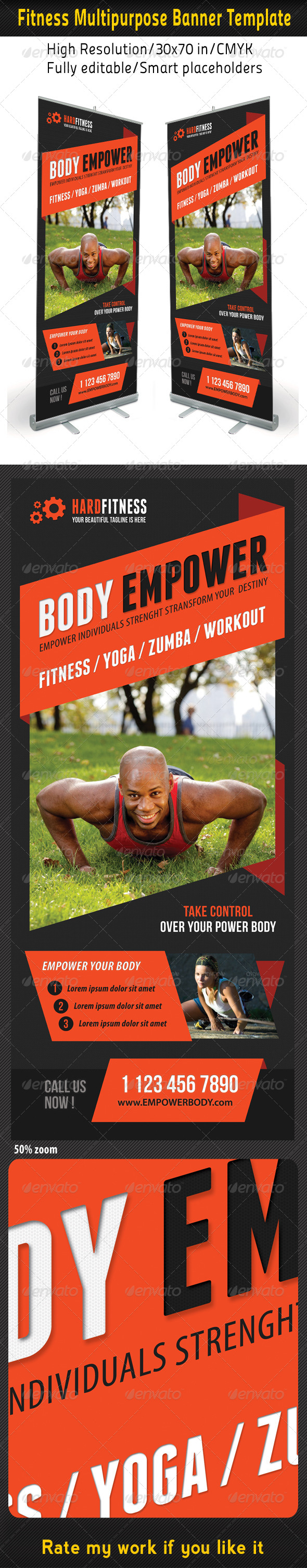 GraphicRiver Fitness Multipurpose Banner Template 13 7490143