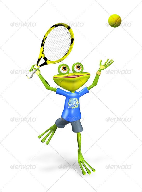GraphicRiver Frog Tennis 7490161