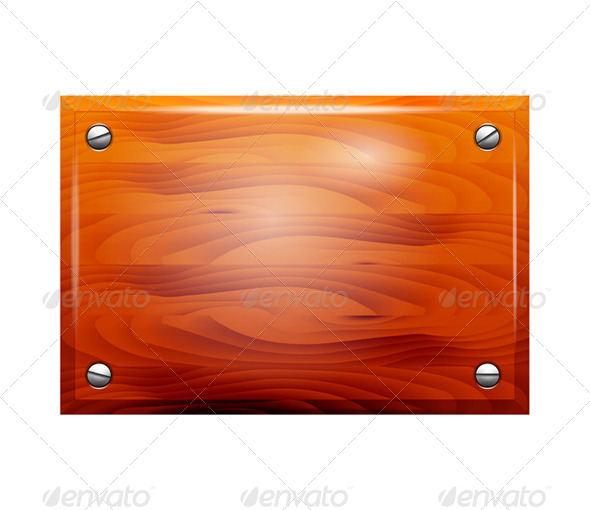 GraphicRiver Plate wooden on white background 7481124