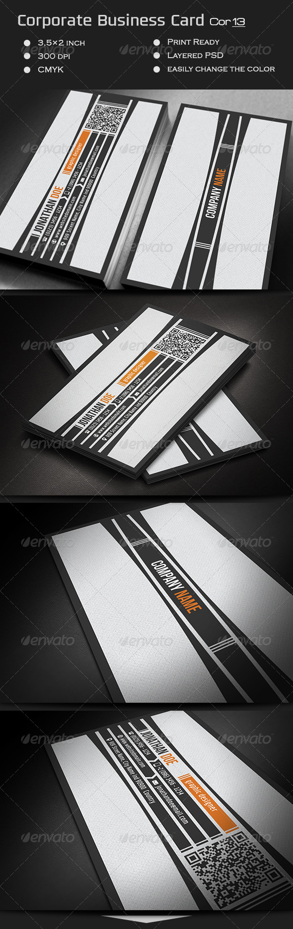 GraphicRiver Corporate Business Card Cor13 7490389