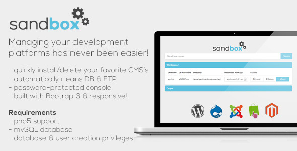 CodeCanyon Sandbox CMS Development Manager Web Tool 7384896