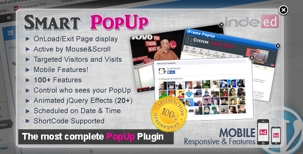 Indeed Smart PopUp for WordPress