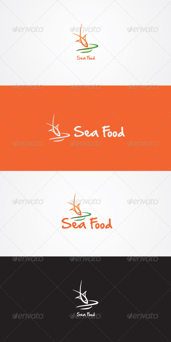 GraphicRiver Sea Food Stock Logo Template 7491519