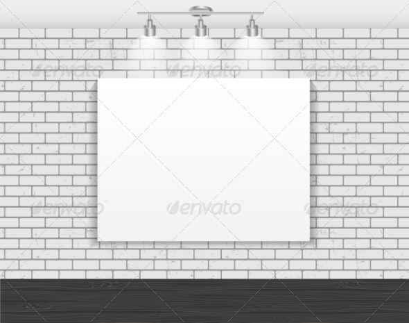 GraphicRiver Frame on Brick Wall for Your Text and Images 7491818