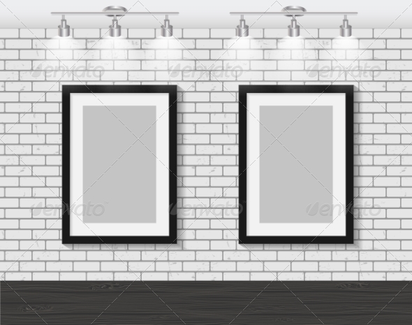 GraphicRiver Frame on Brick Wall for Your Text and Images 7491894