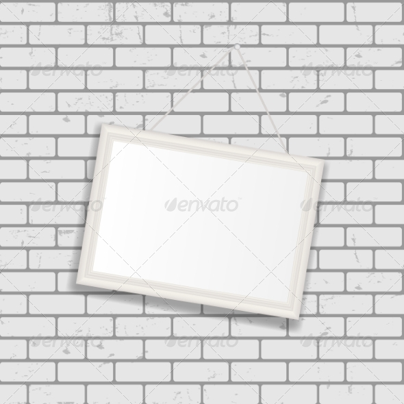 GraphicRiver Frame on Brick Wall for Your Text and Images 7492065