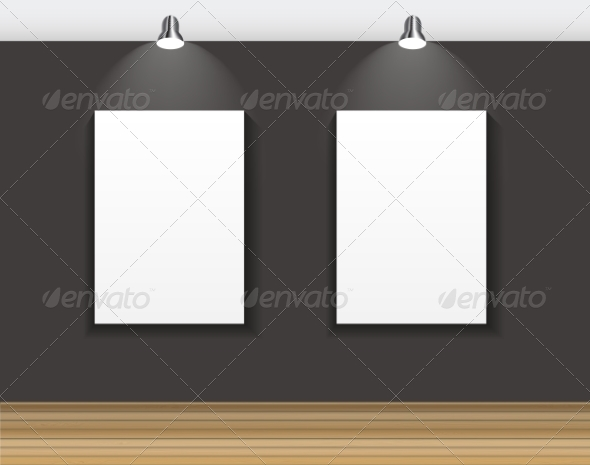 GraphicRiver Frame on Wall for Your Text and Images 7492409