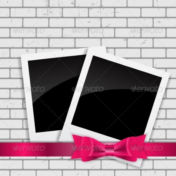 GraphicRiver Instant Photos on Grunge Brick Background 7492493