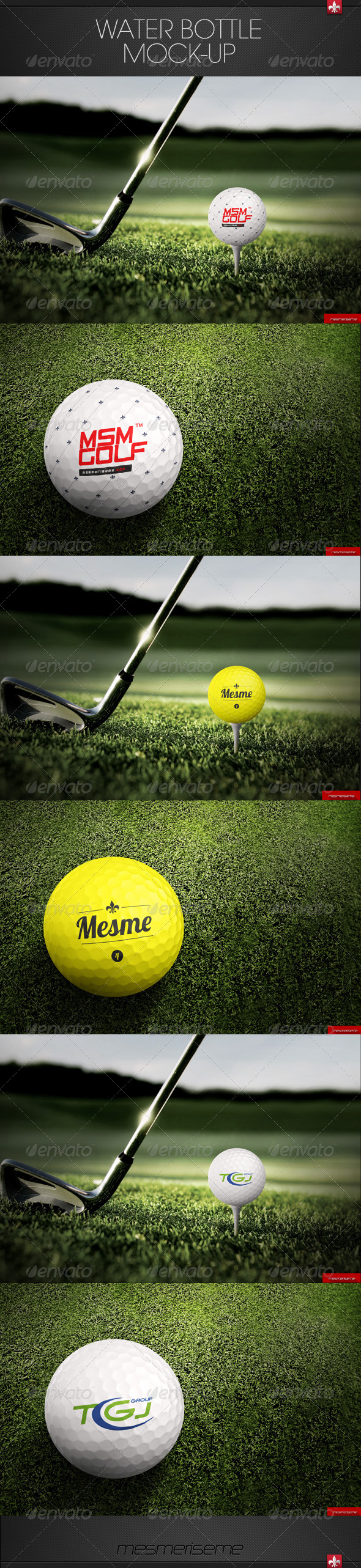 GraphicRiver Golf Ball Mock-up 7492600