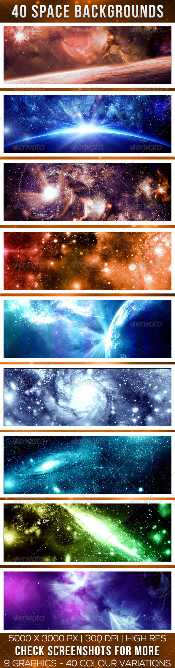 GraphicRiver Forty Deep Space Backgrounds 7492611