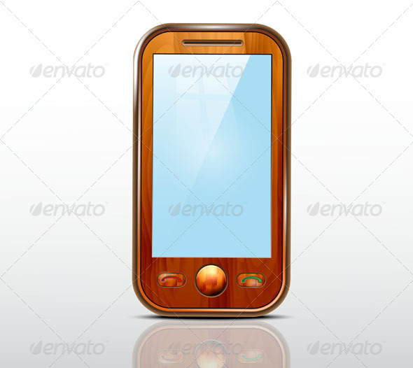 GraphicRiver Wooden Mobile Phone 7492842