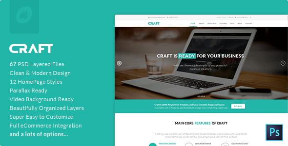 Craft | Multi-Purpose PSD Template