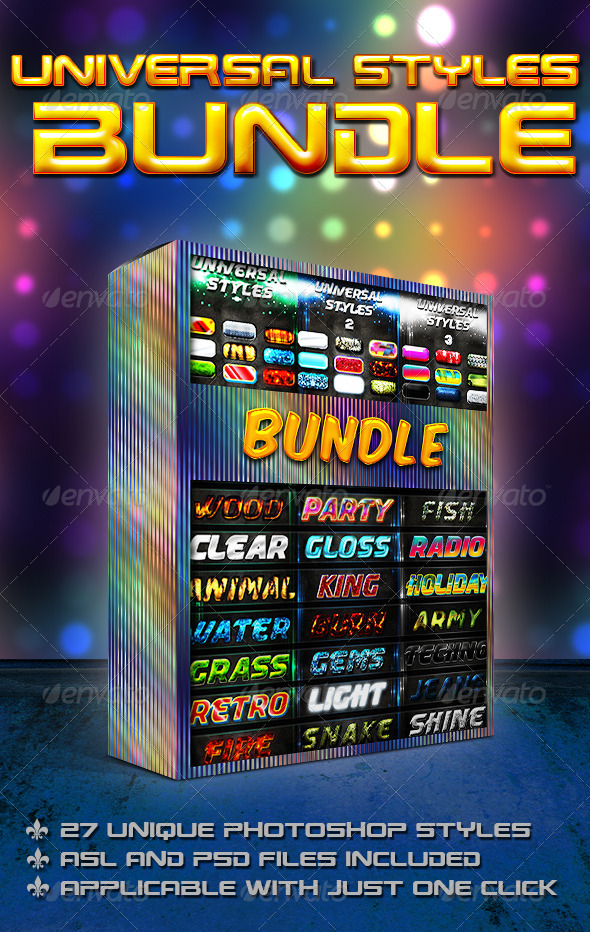 GraphicRiver Universal Styles Bundle 7492912
