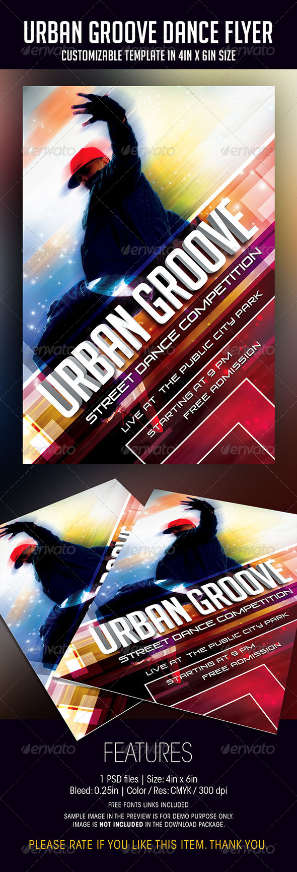 Urban Groove Dance Competition Flyer