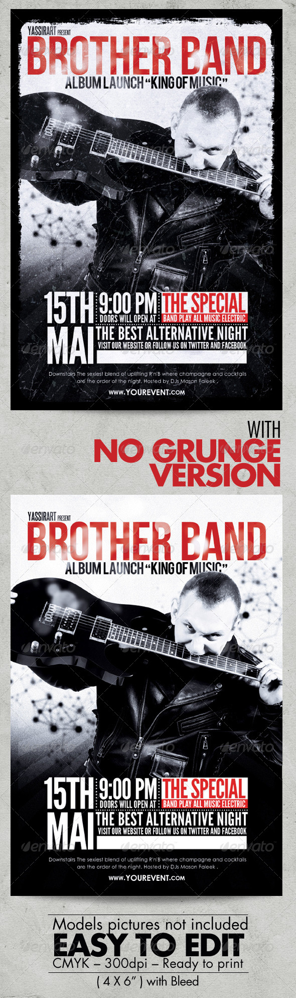 GraphicRiver Brother Band Flyer Template 7493167