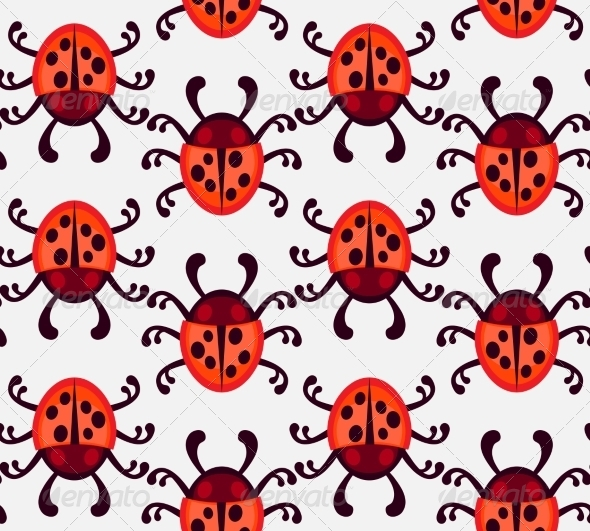 GraphicRiver Ladybug Pattern 7493196