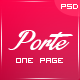Porte - Personal Resume PSD Theme - ThemeForest Item for Sale