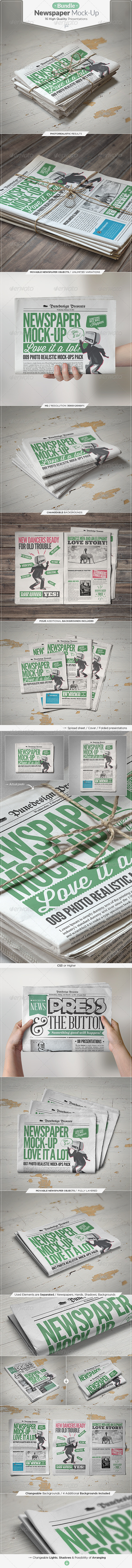 GraphicRiver Newspaper Mock-up Bundle 7493506