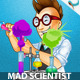 Mad Scientist Cartoon Mascot - GraphicRiver Item for Sale