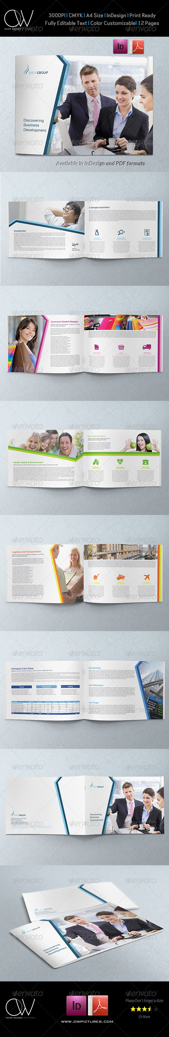 GraphicRiver Corporate Brochure Template Vol.35 12 Pages 7493677