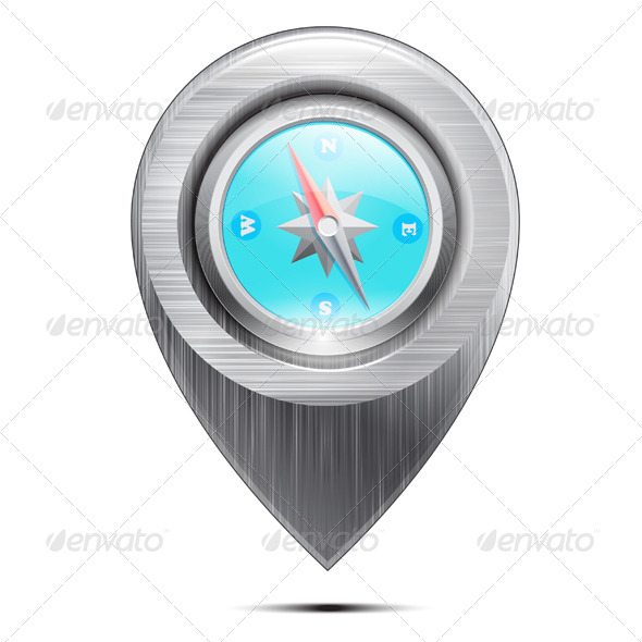 GraphicRiver Metal Compass 7493869