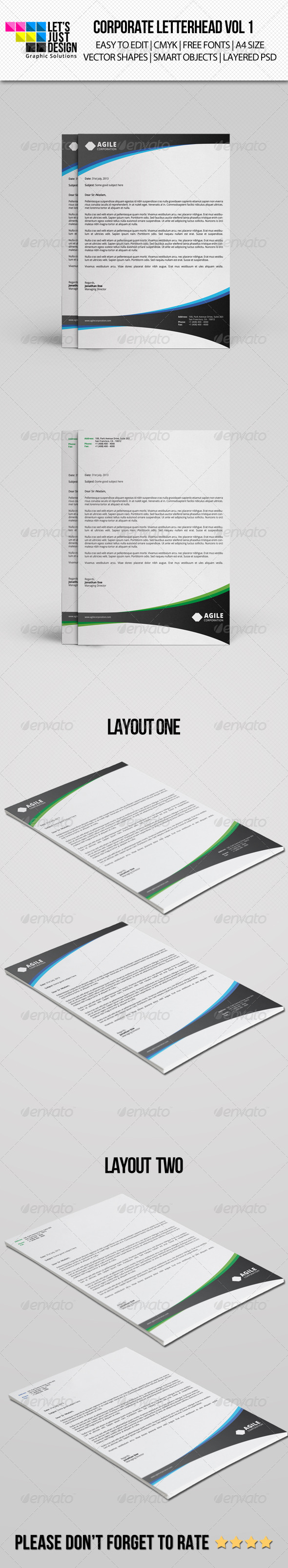 GraphicRiver Corporate Letterhead vol 1 7494280