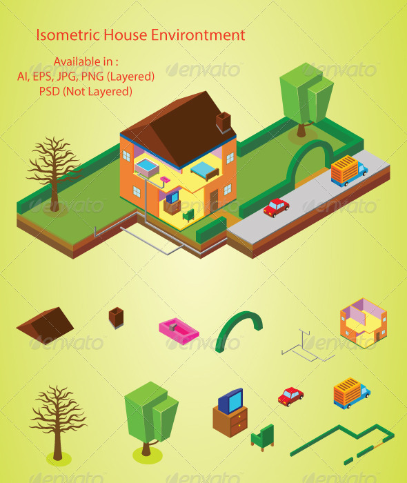 GraphicRiver House Environment 7495661