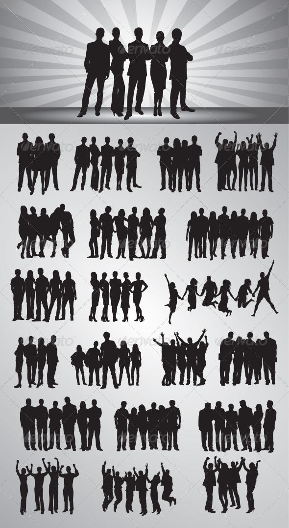 GraphicRiver People Silhouettes 7495662