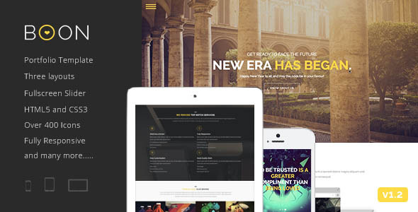 Boon Responsive One page Portfolio Template