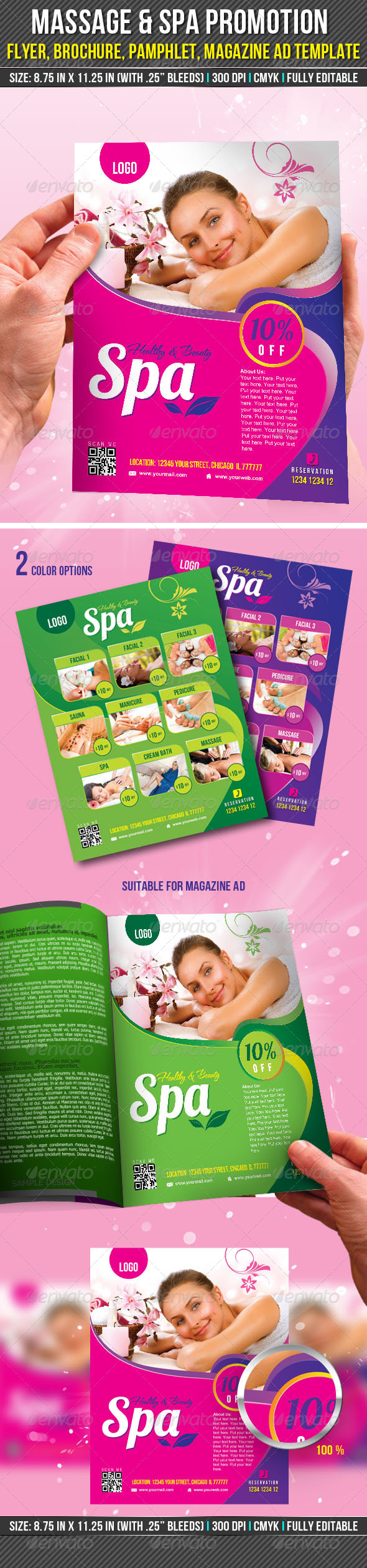 GraphicRiver Massage & Spa Promotion Flyer 7495875