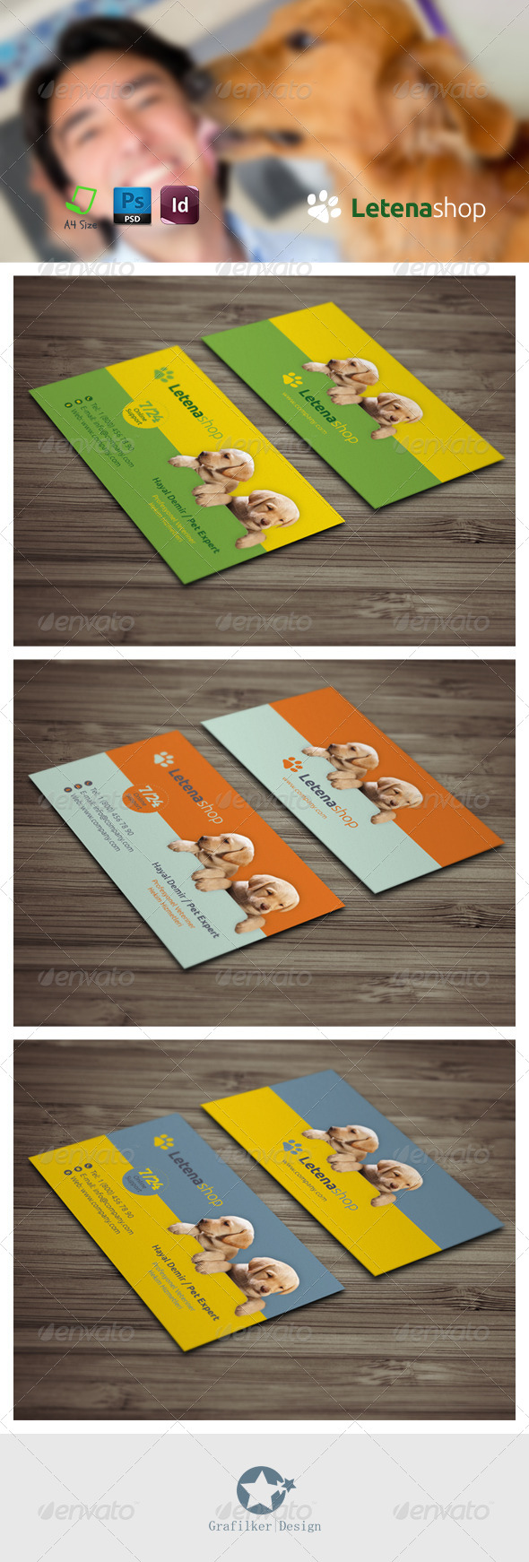 GraphicRiver Pet Shop Business Card Templates 7496330