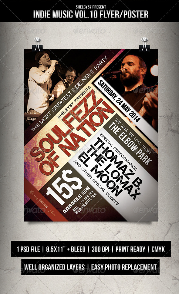 GraphicRiver Indie Music Flyer Poster Vol.10 7496426