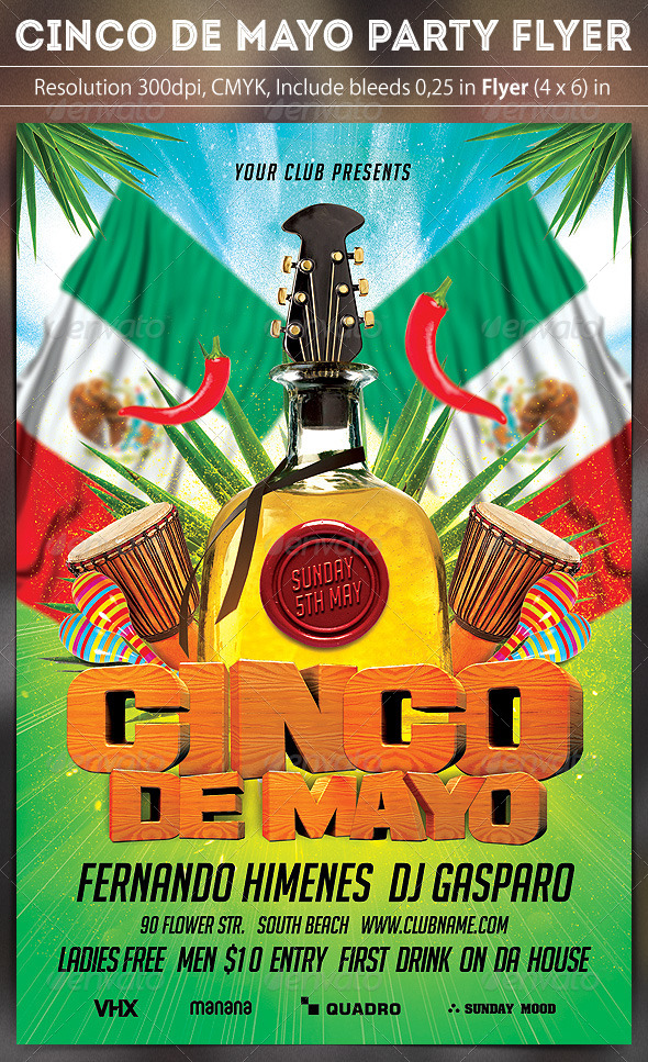 GraphicRiver Cinco De Mayo Party 7493299