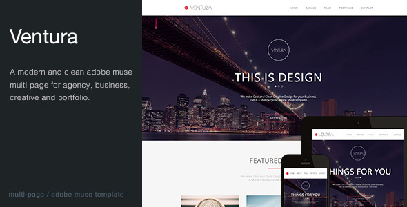 ThemeForest Ventura Multi-Purpose Muse Template 7255506