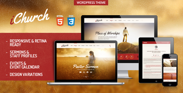 iChurch - Responsive Church Wordpress Theme - Churches Nonprofit