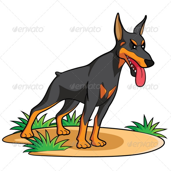 GraphicRiver Doberman Cartoon 7496754